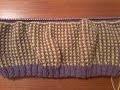 Tuto tricot : comment tricoter le point ( nid d'abeilles bicolore )