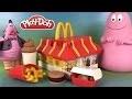 Play Doh McDonald's Restaurant Playset Pâte à modeler Hamburgers Frites McNuggets Barbapapa