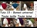 Tuto tricot 15 : tricoter un bonnet toute taille toute laine, sur mesure ... ou pas