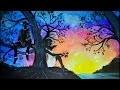 Aquarelle ☆ coucher de soleil Draw Léa