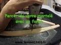 Percer du verre martelé avec un foret