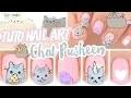 Nail art ♡ Chat Pusheen Licorne et Pizza