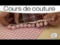 Echarpe doublée ornée : technique de couture