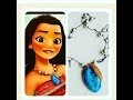 tuto fimo collier de Vaiana  DISNEY /DIY Moana Heart  Necklace