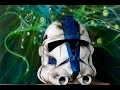 Clone Trooper de la saga Star Wars casque impression 3D peinture à l'aérographe