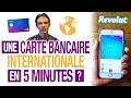 Comment AVOIR 1 CARTE BANCAIRE INTERNATIONALE en 5 MINUTES ? (REVOLUT)