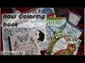 Haul livre de coloriage Avril 2017 / Haul coloring book April 2017