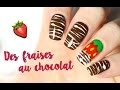 � Un nail art au chocolat, avec la technique du Sugar Spun