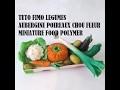 tuto fimo légumes polymer CLAY TUTORIAL minuature food