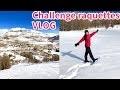Challenge raquettes! VLOG VOYAGE Hiver 2018 #2 Il neige à Valberg, 1ère ascension randonnée montagne