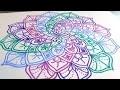Comment dessiner un mandala spirale ?