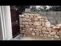 Murs en pierre avec niches cintrée, jacuzzi (Première partie)