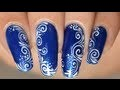 Nail art facile : Arabesques & spirales - dessin sur les ongles