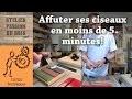 COMMENT AFFUTER SES CISEAUX A BOIS EN MOINS DE 5 MINUTES ! (méthode Paul Sellers)