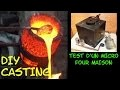 FONDERIE: test d'un micro four a gaz