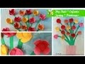 DIY Kids Enfants: Spring  Flowers Frame * tableau fleurs du printemps  (Fête des Mamans/Mothers day)