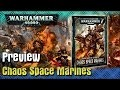 Codex Chaos Space Marines 2017 Preview en Français v8 Vf Fr