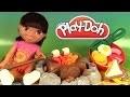Play Doh Pique-Nique du Campeur Campfire Picnic Pâte à modeler avec Dora l'exploratrice