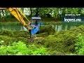 Dans le canal de la Garonne,le combat contre une plante invasive