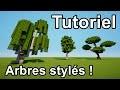 MINECRAFT TUTO - Comment faire des Arbres Stylés sur minecraft !