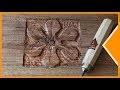 Fleur en GRAVURE SUR BOIS - Gouges & Ciseaux à bois DASTRA