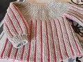 tuto tricot brassiere 2 couleurs rang raccourci