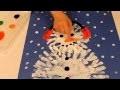 Peinture au doigt: Bonhomme de neige