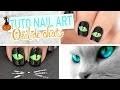 Nail art Halloween ♡ Oeil de chat