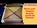 Comment faire un moule pointe de diamant pour chapeaux de pilier 2/3 - Travail du bois - #40