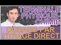 Dosage par titrage direct - Physique-Chimie - Terminale - Les Bons Profs