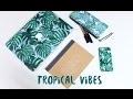DIY trousse SANS couture // Tropical Vibes