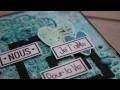 Réaliser un fond texturé avec les produits Florilèges Design par Lalaith
