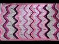 """Couverture """"zig-zag"""" au crochet"""