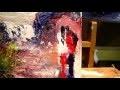 exercice N°6 FAIRE DES SILHOUETTES AU COUTEAU A LA PEINTURE A L HUILE