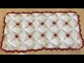 Tuto chemin de table au crochet spe�cial gaucher