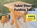 Table Pliante / Folding Table