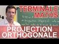 Projection orthogonale : le rappel de cours - MATHS - TS - Les Bons Profs