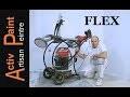 FLEX présentation UTILISATION du chariot de poncage GAZELLETTE avec GIRAFFE GE5 et aspirateur bf 19l
