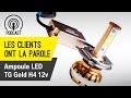Avis ampoule phare LED moto TG Gold H4 12V