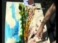 Peinture à l'encre avec seringues