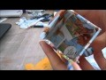 Décorer une boîte  avec du papier journal/magazine