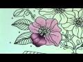 Tuto coloriage fleur aux crayons de couleurs