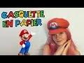 DIY : Casquette de Mario en Papier ! Mario Papercraft