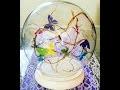 Centre de table  Globe papillon mariage