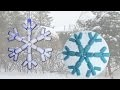 Modèle PlayMais pour un flocon de neige