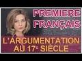Histoire de l'argumentation : 17e - Français Première - Les Bons Profs