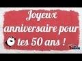Bon anniversaire 50 ans humour