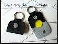 Tuto Couture porte-clés Etui / Pochette pour Jeton de caddie / Accessoire de sac