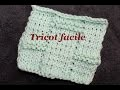 Tricot facile, tutoriel motif type échiquier / Knit tutorial easy
