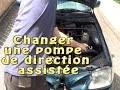 Changer et purger une pompe de direction assistée